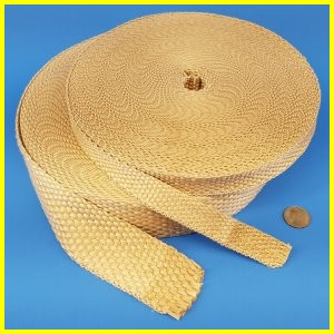 Fiberglass Silica Blended Woven Tape Gasket Thermal Insulating High Temperature Heat Resistant